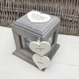 Shabby Chic PERSONALISED Rustic Wood In Memory Of Mum Mam Or ANY NAME Photo Cube - 253968399351